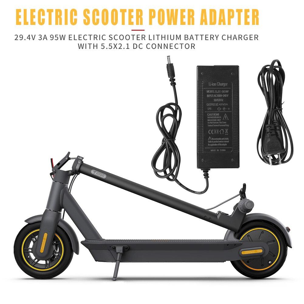 Cargador rápido Universal de batería de 29,4 V 3A para rueda de equilibrio inteligente cargador adaptador de scooter eléctrico Enchufe europeo/estadounidense con conector