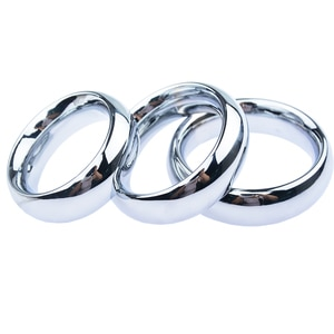 Fine 9MM Thick Male Lock Loop Pendant Cockring Men Metal Mirror Polish Delay Gonobolia Penis Ring Adult Bdsm Sex Toy 3 Size