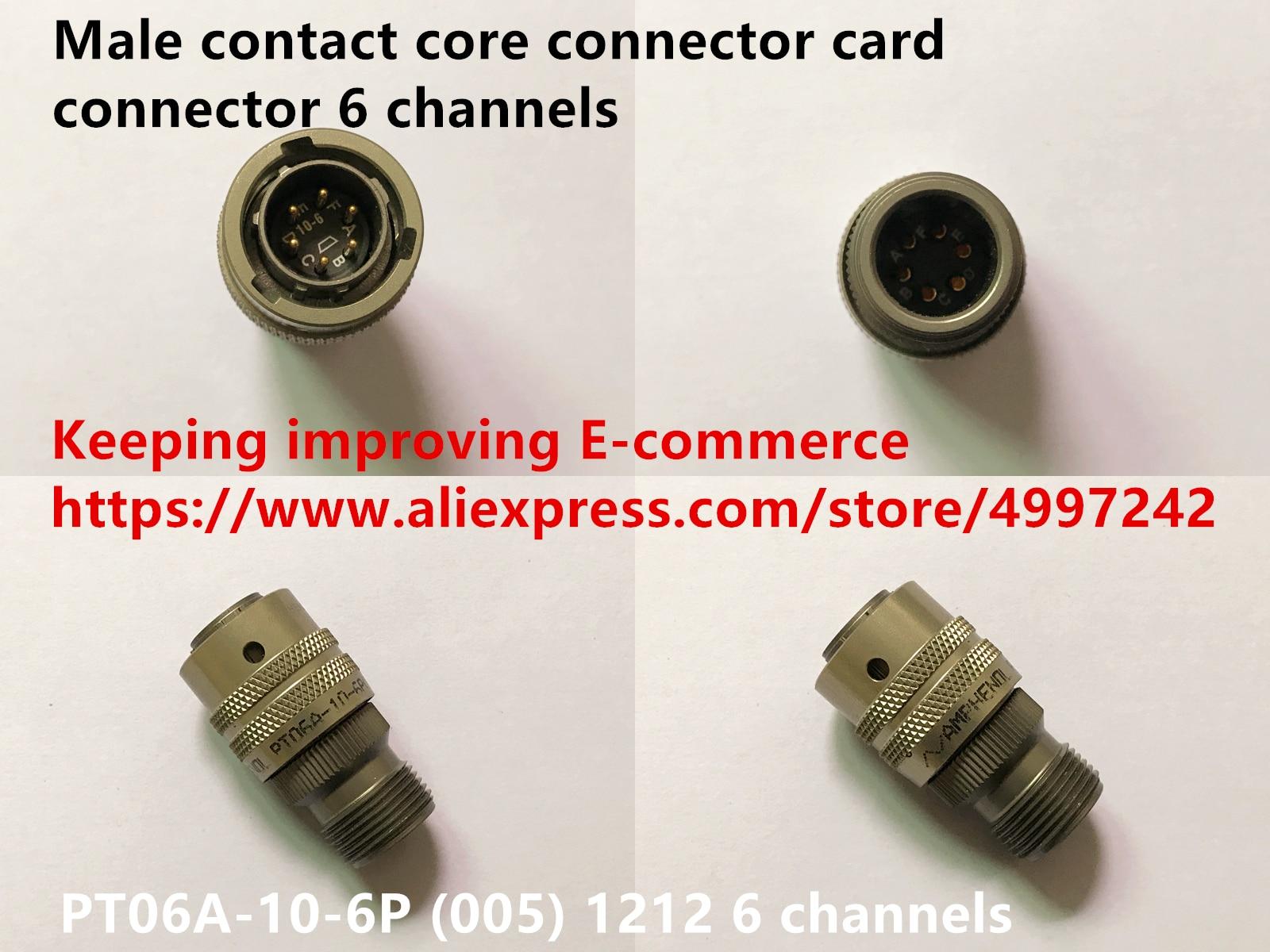 الأصلي جديد 100% PT06A-10-6P (005) 1212 الذكور الاتصال النواة موصل بطاقة موصل 6 قنوات