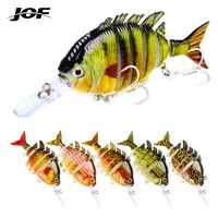jof 13 5g wobblers pike fishing lures artificial multi jointed sections artificial hard bait trolling pike carp fishing tools