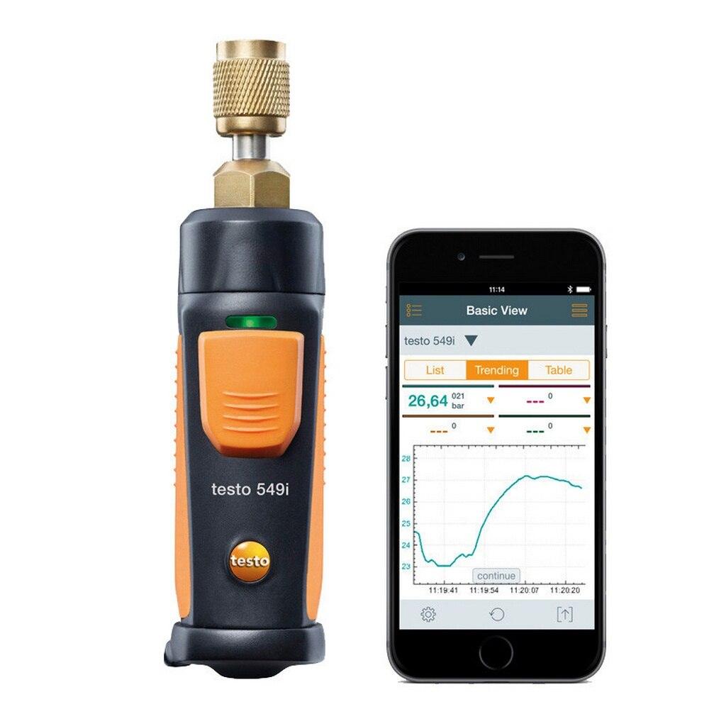 Testo 549i تكييف الهواء التبريد قياس الضغط أداة قياس Testo اللاسلكية نظام تبريد صغير مجموعة اختبارات طبّية
