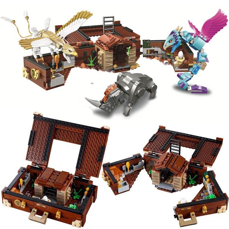 16059 compatível lepining 75952 fantástico bestas grindelwald newt caso de criaturas mágicas blocos de construção conjunto brinquedos