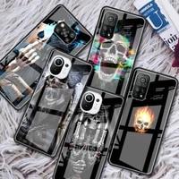 horror skull glass phone case for xiaomi redmi note 9s 8 9 8t 7 9c capa for mi 10t pro 9t 10 lite tempered cover