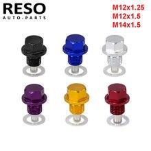 M12x1.5 M12x1.25 M14 x 1.5MM Engine Magnetic Oil Drain Plugs Screw Nut Bolt Oil Drain Sump Nut multi colors