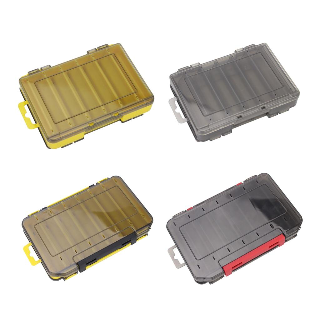 Caixa de jigs de lula isca de pesca gancho accessaries recipiente 12/14 compartimentos caso