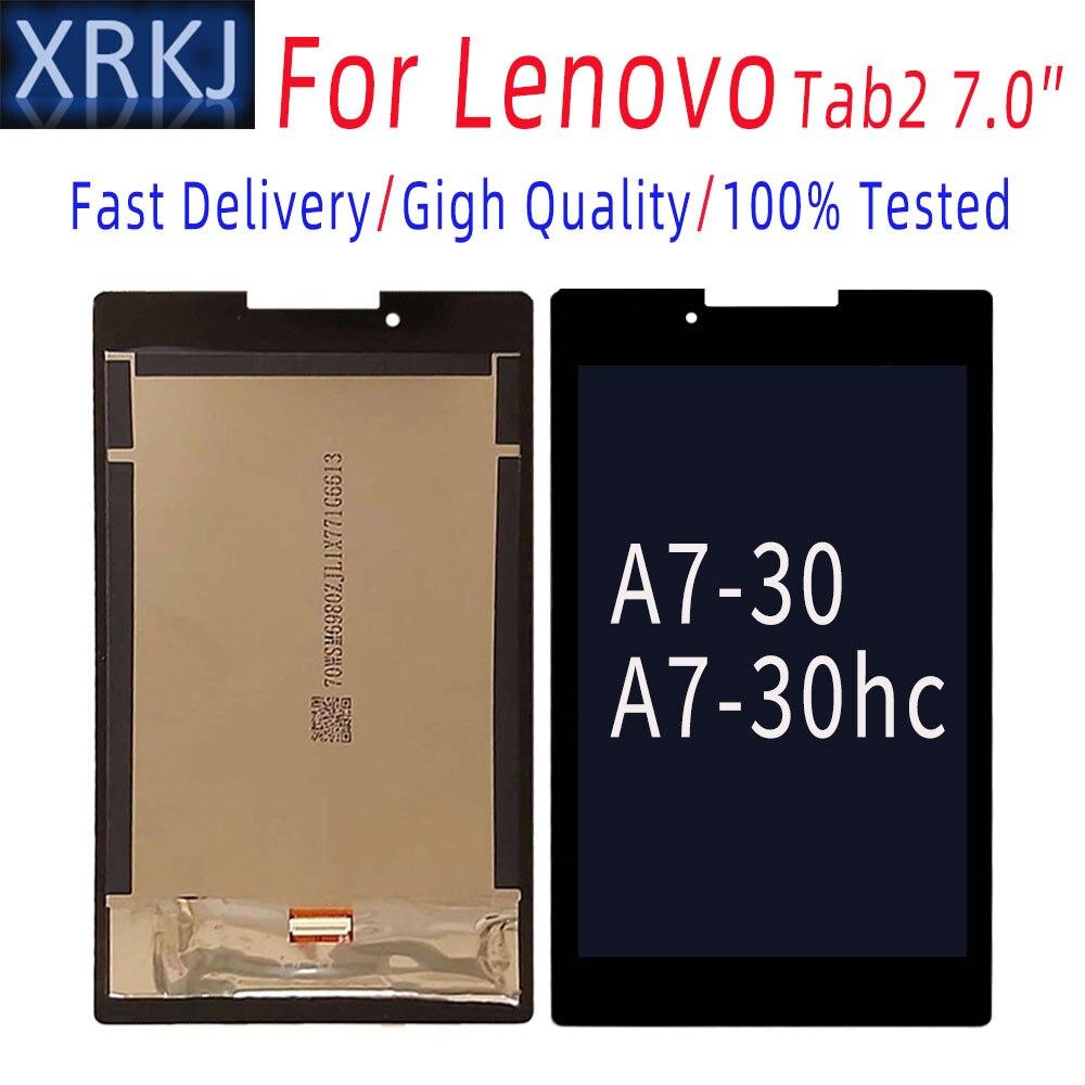 LCD لينوفو تبويب 2 A7-30 A7-30hc LCD ديسبالي الجمعية LCD شاشة MT8382M MT8127 اللوحي شاشة تعمل باللمس محول الأرقام الجمعية كاملة