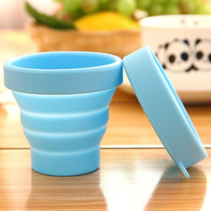Taza Plegable portátil de silicona para gárgaras, herramientas de viaje al aire libre, Vaso Plegable de silicona Copo