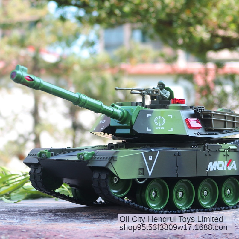 New Remote Control Toy Large Battle Tank Model Car Rechargeable Launching Cannonball Off-road Tracked Remote Control Toy Car