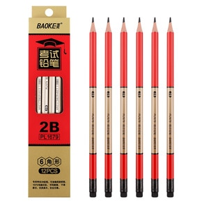 12 Boxes of Baoke PL1679 Painting Pencils Primary School Students Triangle 2B Core Pencil Stationery Painting Sketch Art Pencils