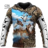 plstar cosmos duck hunting animal hunter camo tattoo dog tracksuit pullover streetwear 3dprint menwomen autumn funny hoodies 16