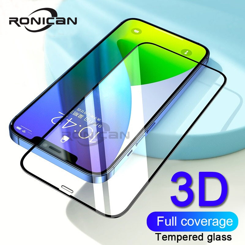 Protector de cristal para pantalla de móvil de película de vidrio templado para iPhone 12 Pro Max XR XS X 7 8 6 11 5S SE 2020