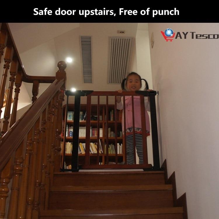 Детские ворота из массива дерева, Детские ворота, барьер, лестничные Безопасные ворота, домашние животные 75-84 см, 3 цвета, быстрая доставка, д...