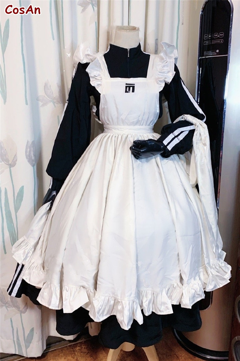 زي خادمة بريطاني تقليدي جميل زي تأثيري أنيق JK موحد للجنسين نشاط حفلة لعب الأدوار ملابس مخصصة
