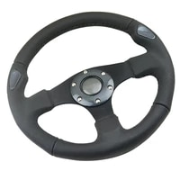 320mm racing steering wheel leather needle hole flat type driving car sport steering wheel