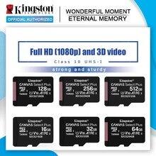 Karta pamięci Kingston 128GB 64GB 32GB 16GB karta Micro sd Class10 UHS-1 karta pamięci flash 8G C4 Microsd TF/karty SD na smartfona