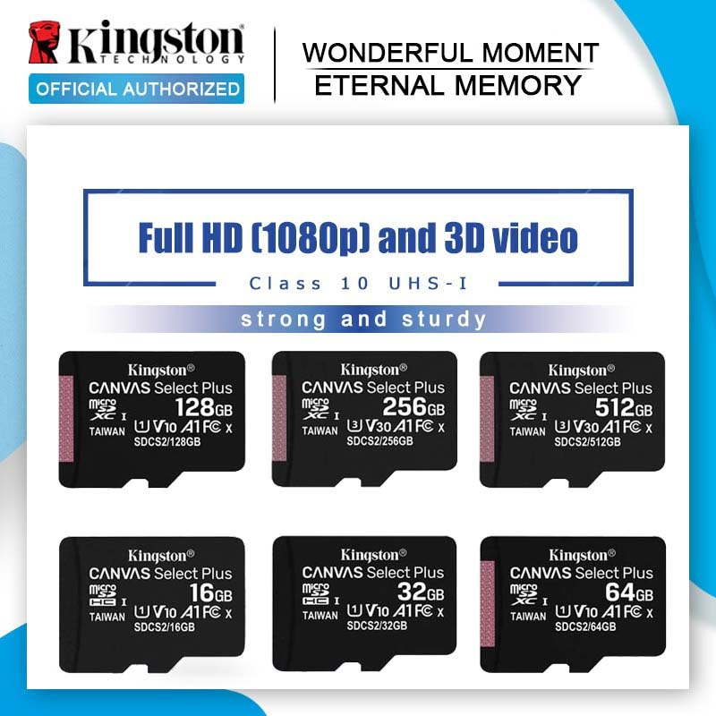 Tarjeta de memoria Kingston, tarjeta Micro sd de 128GB, 64GB, 32GB y 16GB, tarjeta flash Class10 UHS-1, tarjeta TF/SD 8G C4 Microsd