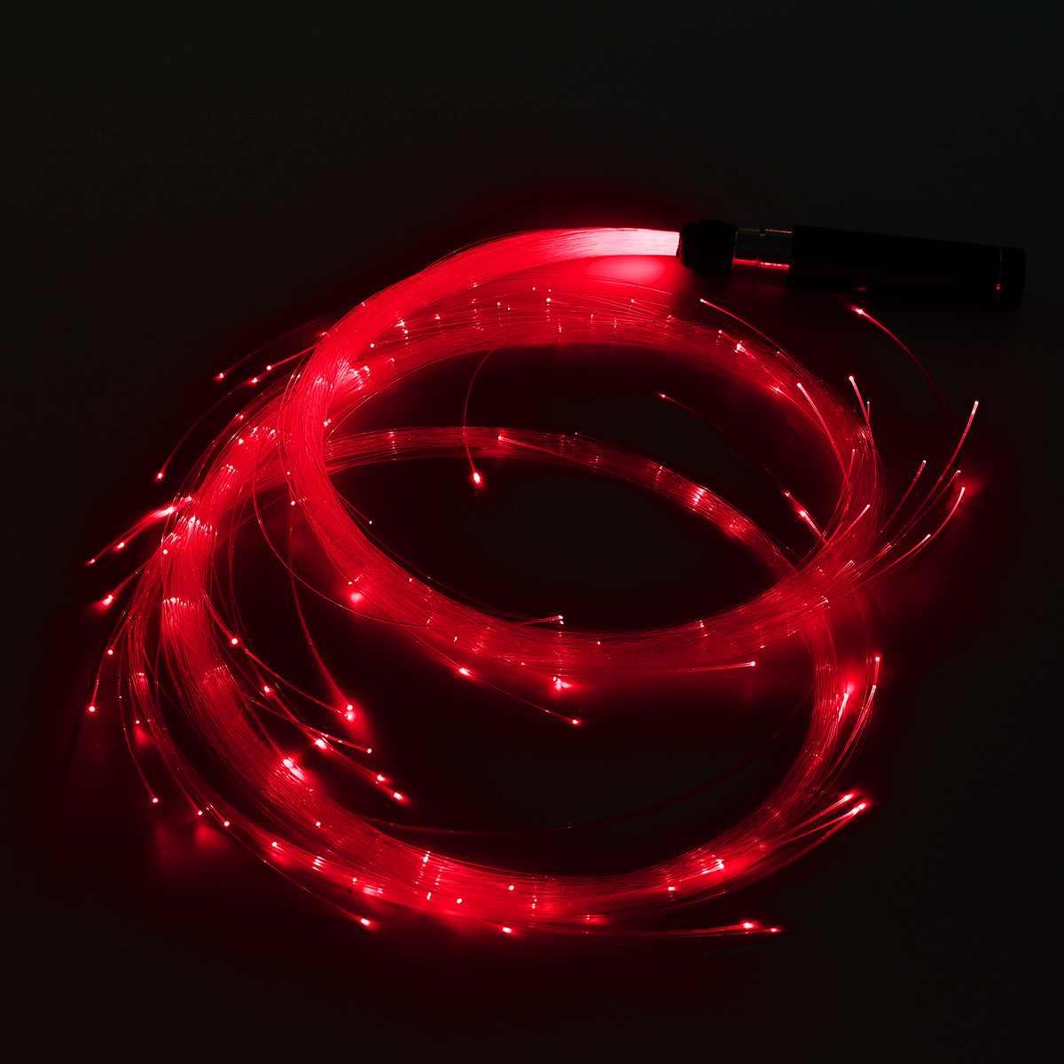 Luz de fibra óptica led whip fulgor luz multicolorido dança acender rave brinquedo festival dança brilho vara suprimentos festa lanterna