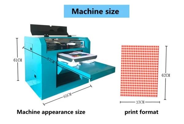 Imprimante de تي شيرت A3 المباشر ، تي شيرت dtg شخصية ، آلة الانطباع