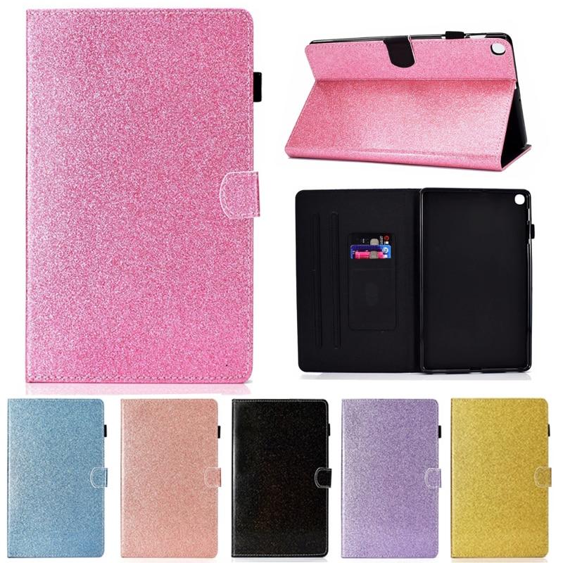 """Funda para Samsung Galaxy Tab S5e 10,5 """"SM-T720 SM-T725 funda Funda de cuero inteligente Bling brillo tarjeta ranura soporte suave tabletas de caso"""