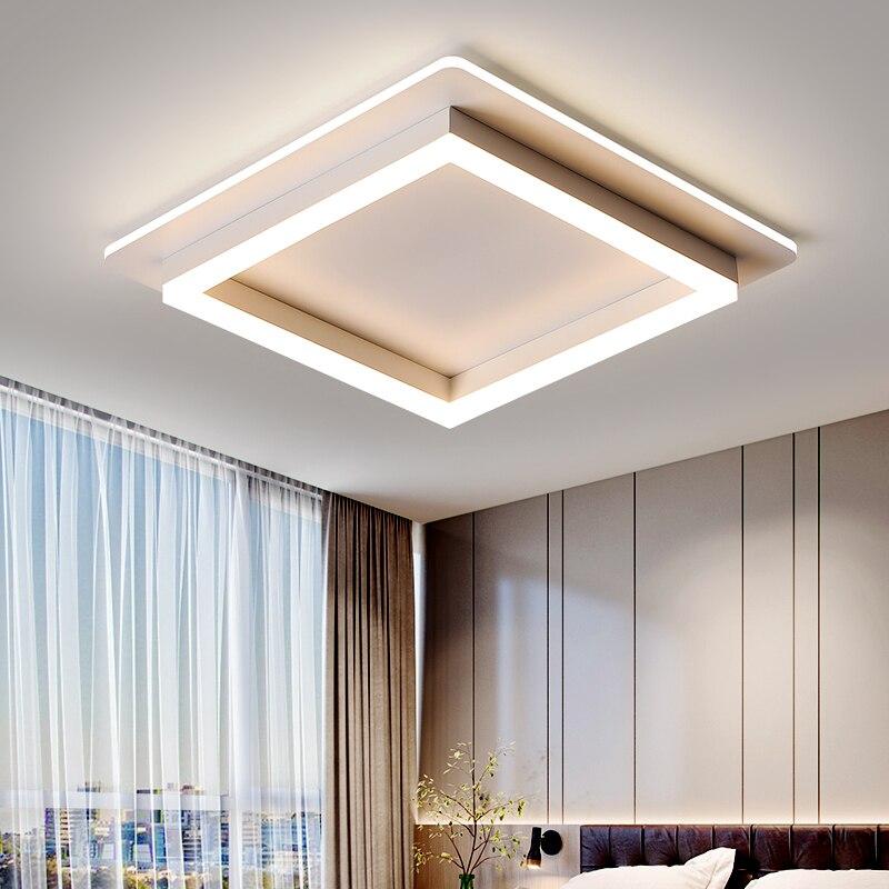أضواء سقف ليد حديث لغرفة المعيشة غرفة نوم مصباح أبيض أسود مع التحكم عن بعد غرفة نوم جديد الإضاءة بريق lambadari