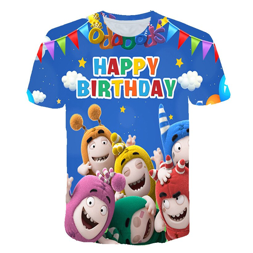 2021 Summer Children's Blue T-Shirt Cocomelon Teenagers Clothes Baby Cartoons Birthday Tshirts Clothing For Girl Boys Tee Top
