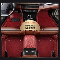 3d custom suitable for automotive wear resistant leather anti slip anti dirty automotive general floor mat