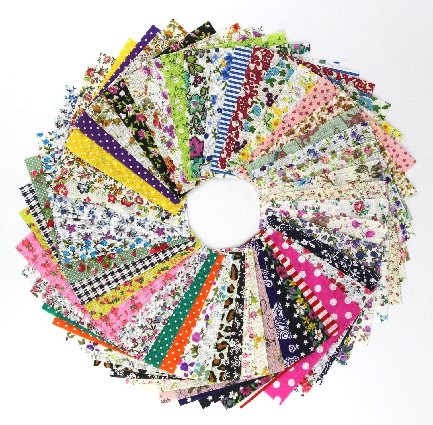 15/60pcs 20*25cm DIY Handmade Material Assorted Floral Printed Cotton Cloth Sewing Quilting Fabric for Patchwork Needlework