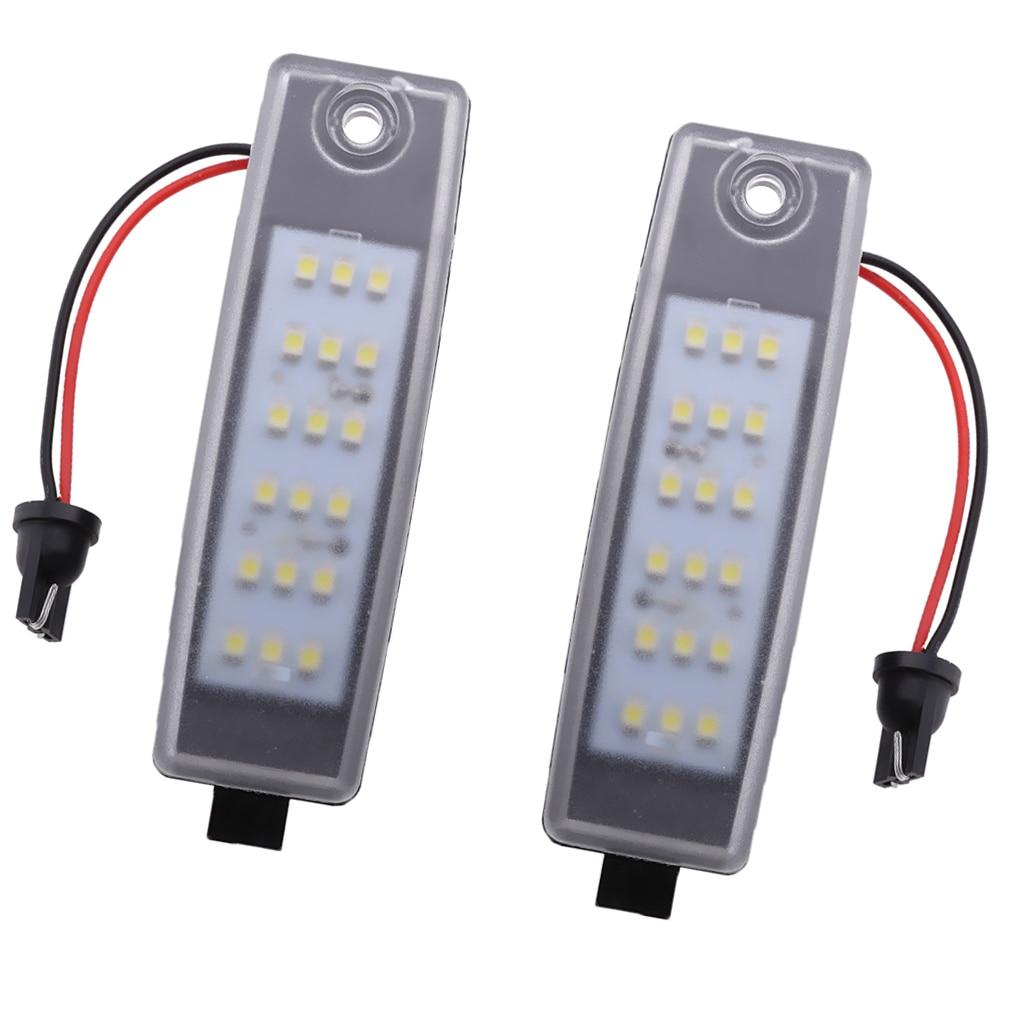 Lampe lumineuse pour Toyota Hiace Rav4 Vanguard | 2 pièces, plaque d'immatriculation numéro de