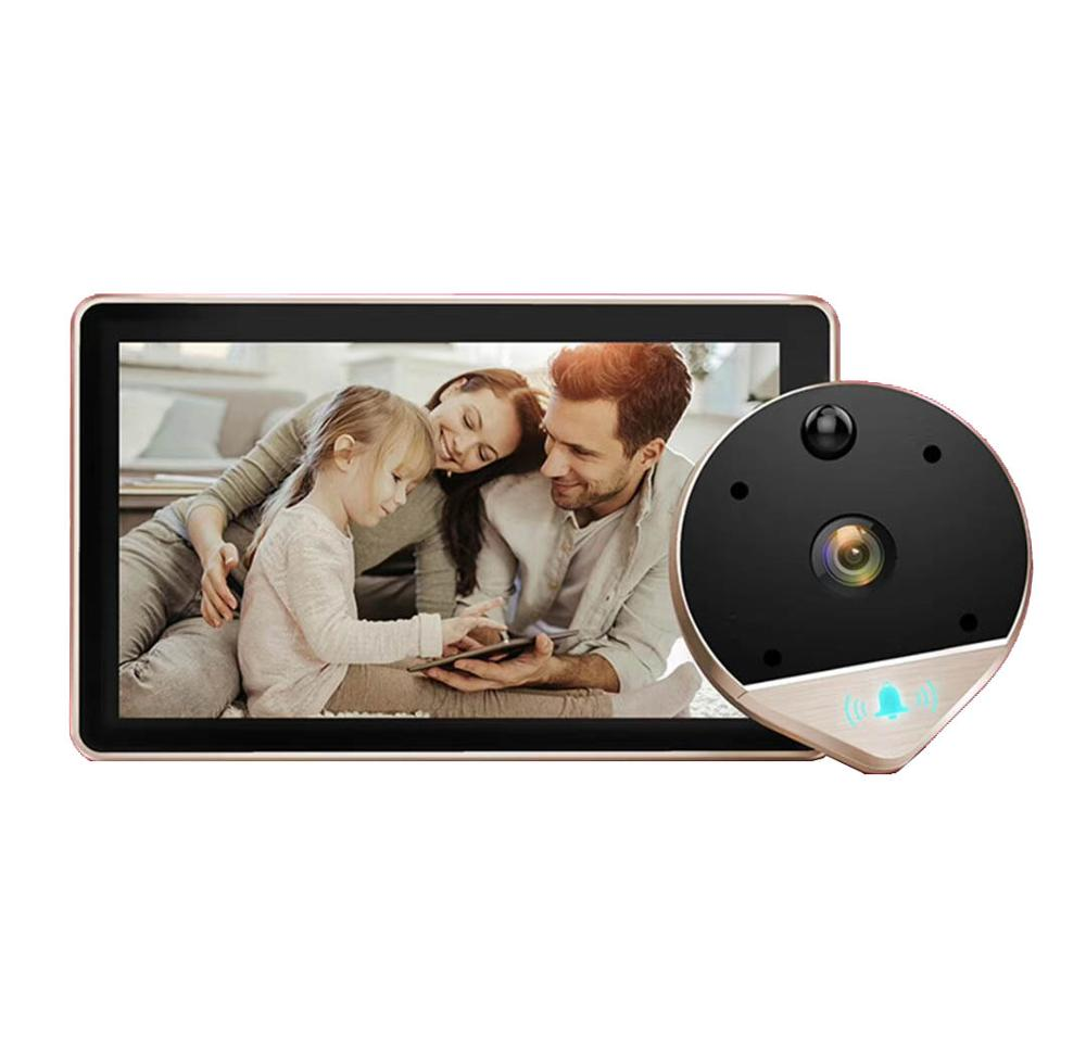 1080P HD Wifi Peephole Viewer Video Doorbell 120 Wide Viewing Angle Camera Home Security Doorbell Motion Detection Video Eye enlarge
