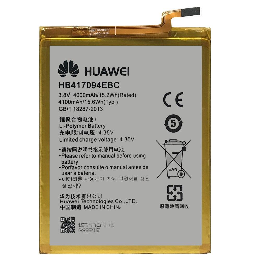 20pcs/lot Battery HB417094EBC For Huawei Ascend Mate 7 MT7 TL00 TL10 UL00 CL00 Original Phone bateries 4100mAh AKKU enlarge