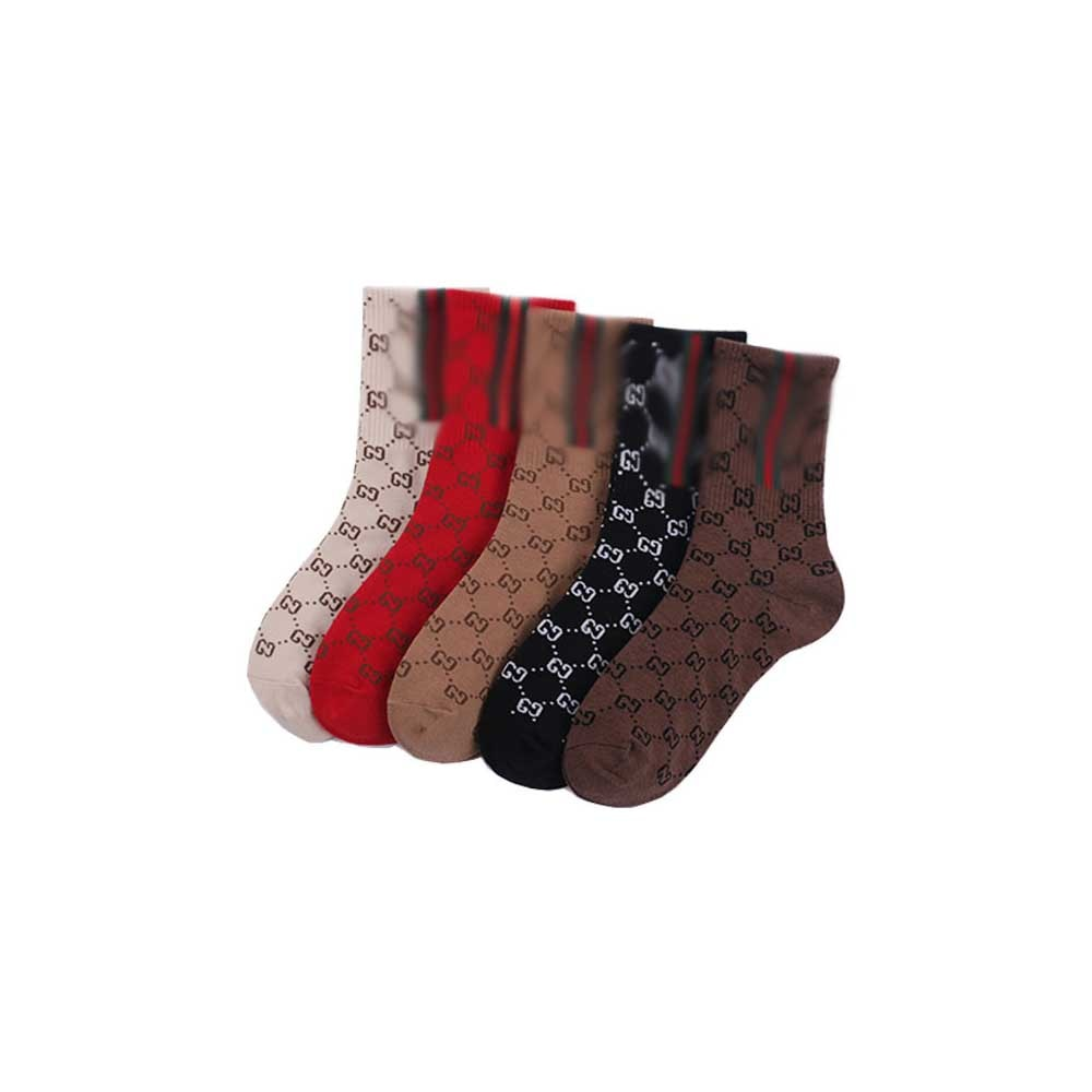 2021 5 Pairs of Men's and Women's Socks/letters Outdoor Sports Fashion Pure Cotton Candy Color Fashion Socks Full Game Sports