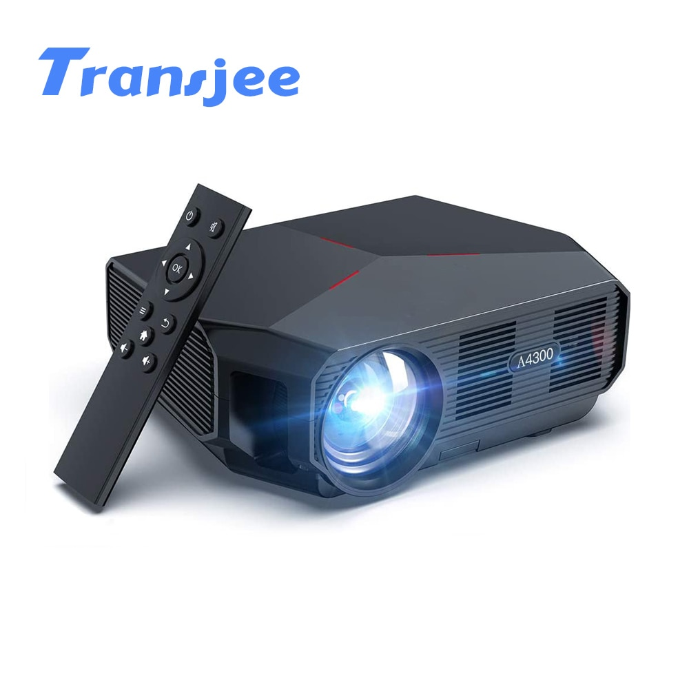 TRANSJEE-HD Projector مع دعم 4K ، 4600 لومن ، WIFI ، Android 6.01 ، LED ، 3D ، للسينما المنزلية