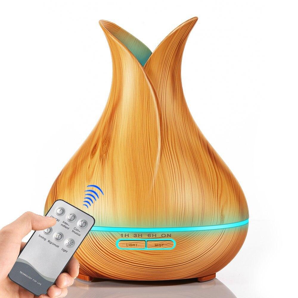 Óleo essencial ultra-sônico pétala criativo customizável ar novo estilo umidificador grão de madeira do oriente médio aroma difusor