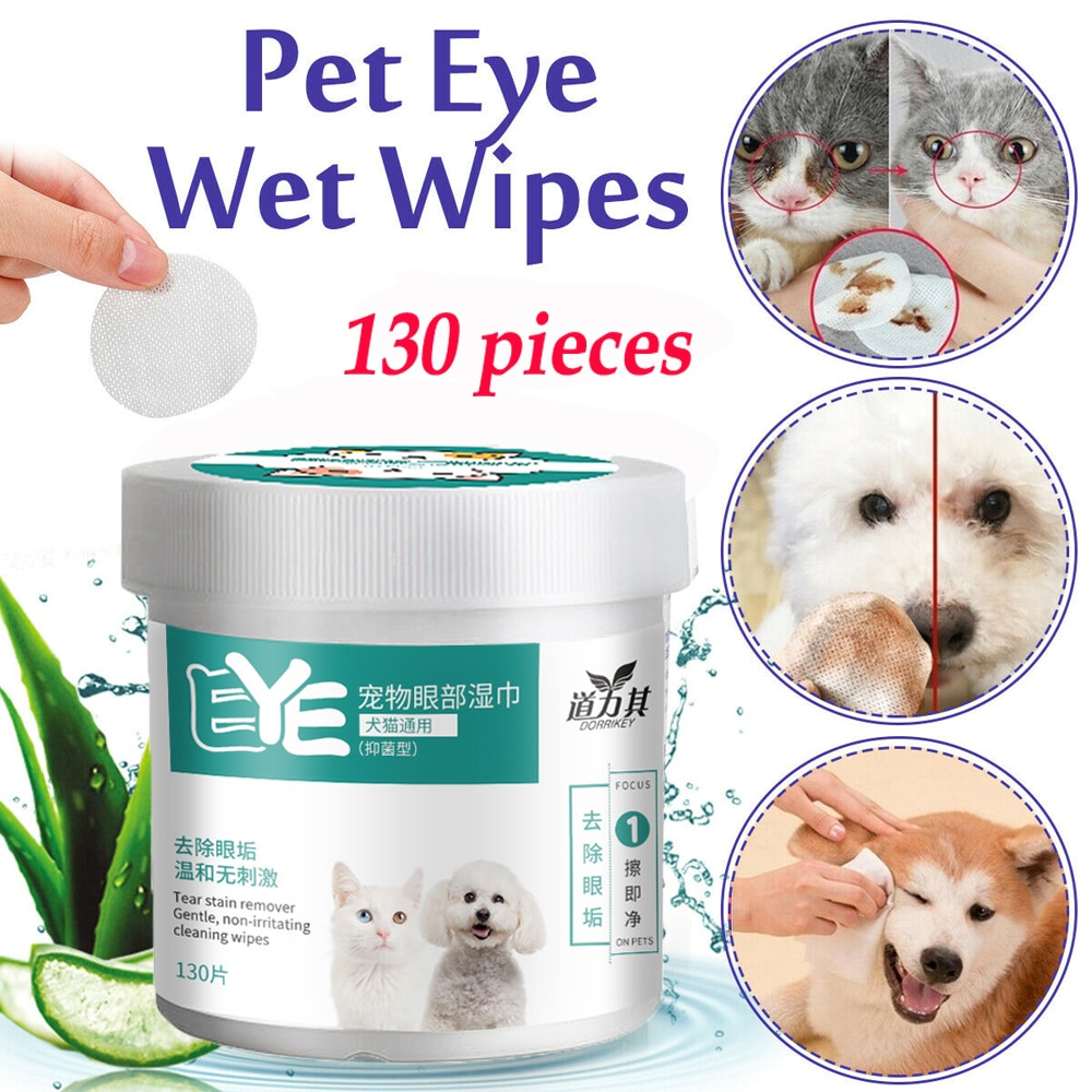 Șervețele noi de 130 de bucăți / set pentru ochi de companie - Produse pentru animale de companie - Fotografie 2