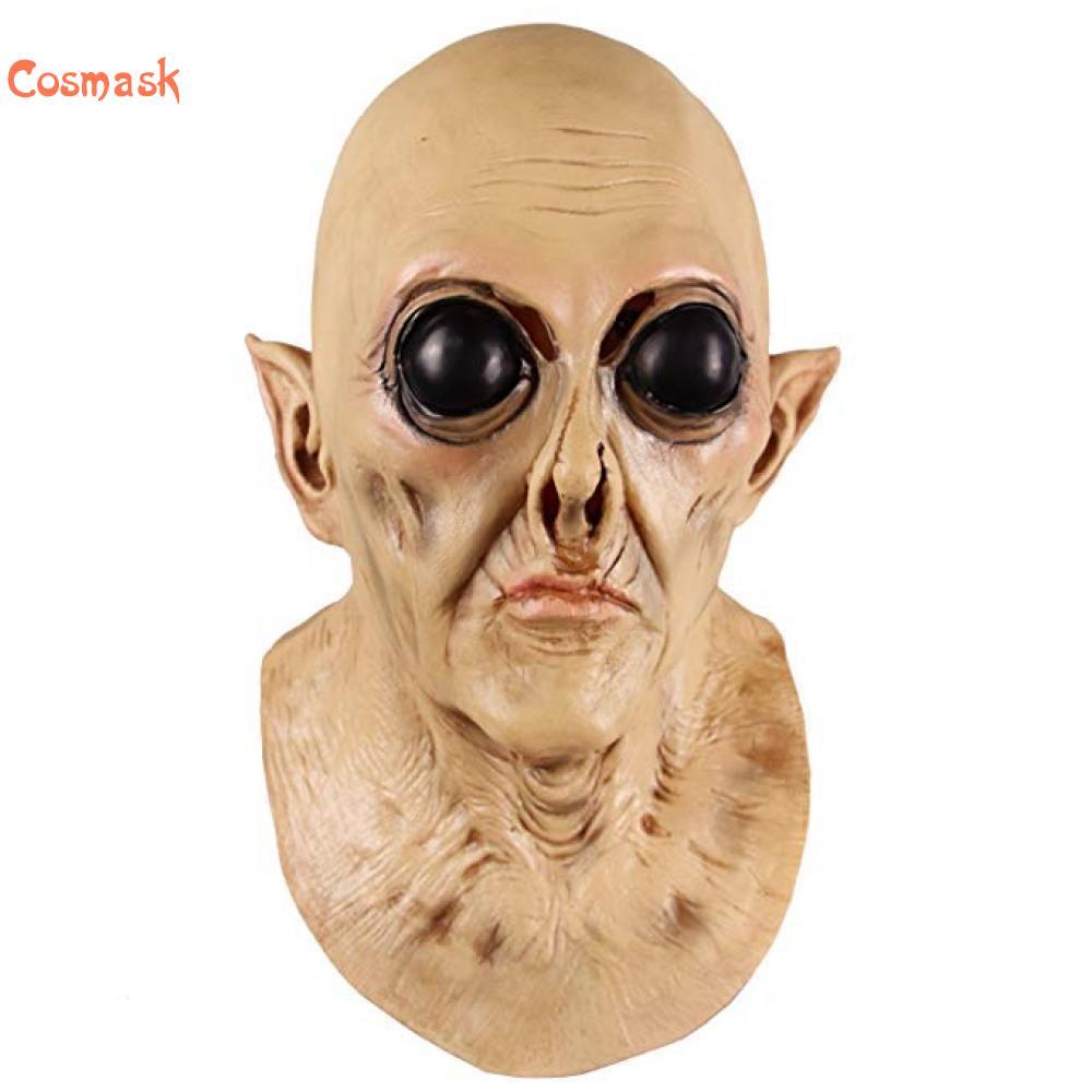 Cosmask НЛО Alien Маска латекс жуткий Geezer маска для Хэллоуина костюм вечерние