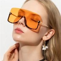 new fashion oversized women sunglasses clear shades half frame goggle brand designer female outdoor big eyewear