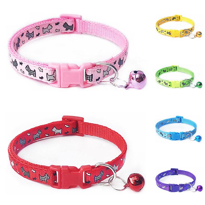 Collar de gato con campana Collar de hebilla ajustable suministros para mascotas gatos gato accesorios Collar pequeño perro Chihuahua seguro terciopelo suave