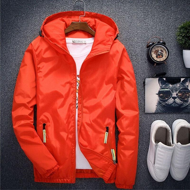 High Quality Spring Autumn Bomber Jacket Men Women Casual Solid Windbreaker Zipper Thin Hooded Coat Outwear Male Plus Size 7XL