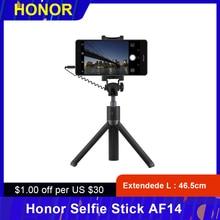 Trípode de Honor Selfie Stick AF14 con cable de Control de mano extensible monopié obturador teléfono soporte 3,5mm enchufe trípode para iOS Android