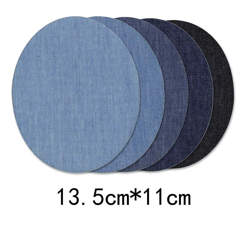 5/1Denim Patches DIY Iron On Denim Elbow Patches Repair Pants For Jean Clothing And Jean Pants Apparel Sewing  - buy with discount