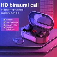 FANGTUOSI Neue TWS Bluetooth 5,0 Kopfhörer Led-anzeige Drahtlose Bluetooth Kopfhörer Wasserdicht Noise Cancelling Headsets Mit mic
