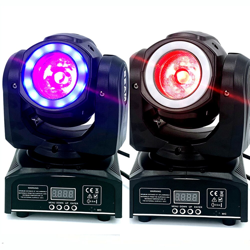 2 قطعة/ميني led 60 واط شعاع متحرك مع 12led SMD5050 RGB 3 في 1 تأثير هالو غسيل LED فائق السطوع DJ بقعة ضوء مع تحكم dmx