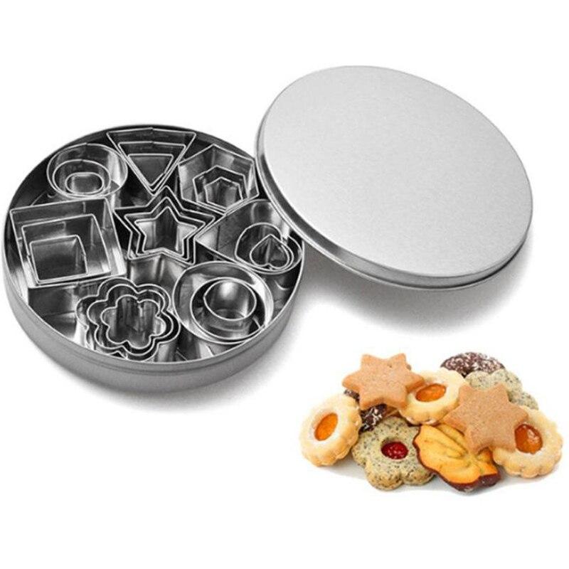 4/8/10/24 Uds Mini conjunto de cortadores de galletas de acero inoxidable molde para galleta y biscocho cortadores de pastelería de Navidad cortadores herramientas para hornear
