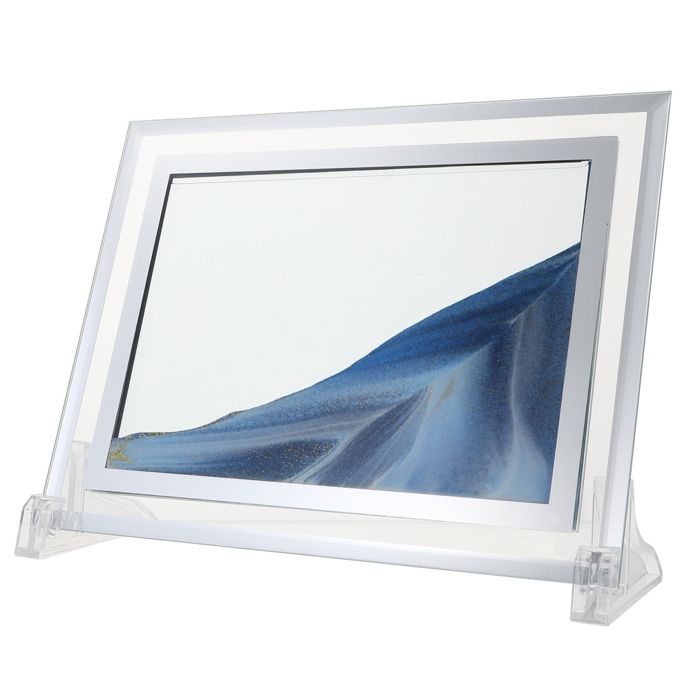 Glass Quicksand Photo Frame Certificate Picture Frame Picture Holder for Home