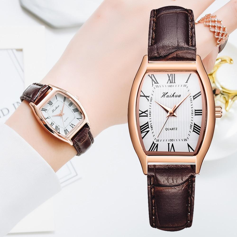 Повседневные женские часы, браслет, кожаный ремешок, овальные кварцевые женские часы, женские часы, наручные часы, женские часы, женские час...