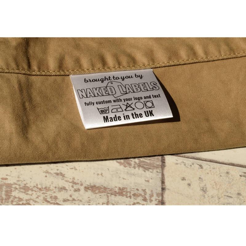 300 пользовательские тканевые Пришивные этикетки для одежды с инструкцией по стирке, сатиновые плоские брендовые этикетки для ухода, моющие...