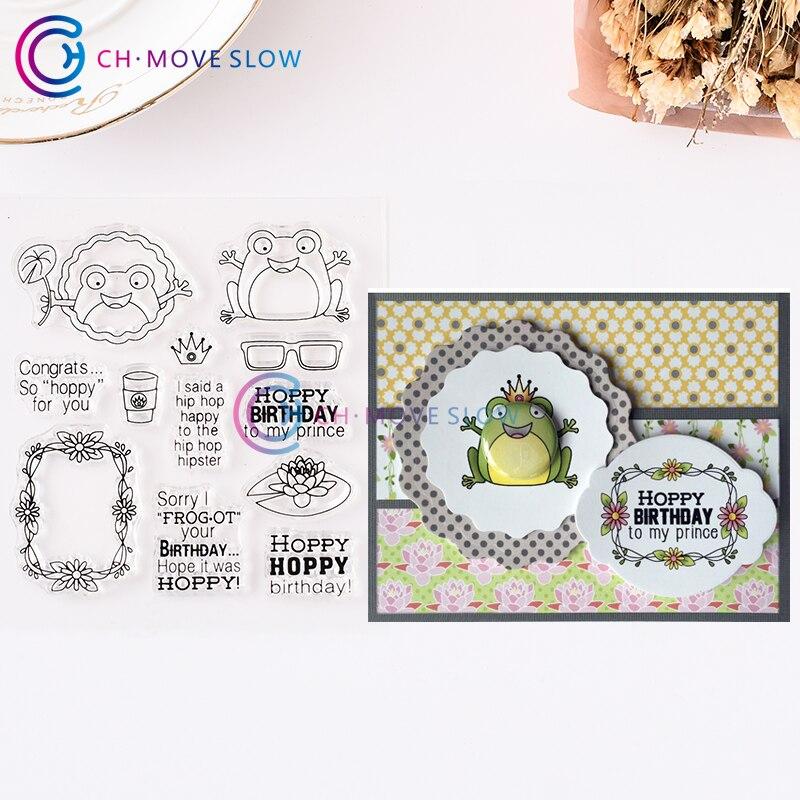 CH Frog sello de silicona transparente, sello para álbum de recortes DIY, hojas de sellos decorativas transparentes para álbum de fotos