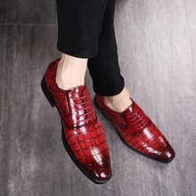 2019 offre spéciale robe chaussures hommes chaussures formelles en cuir Oxford chaussures pour hommes chaussures de mariage lacets en cuir Brogues grande taille 37-48