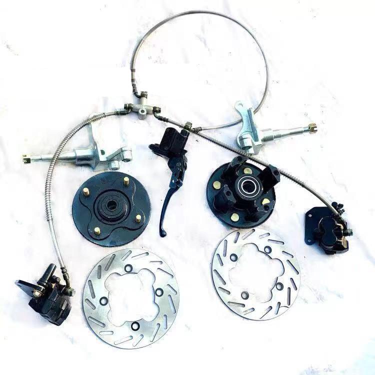 ATV Go Kart Karting Front Motorcycle Brake Disc Disk Rotor With Rotating Knuckle Flange