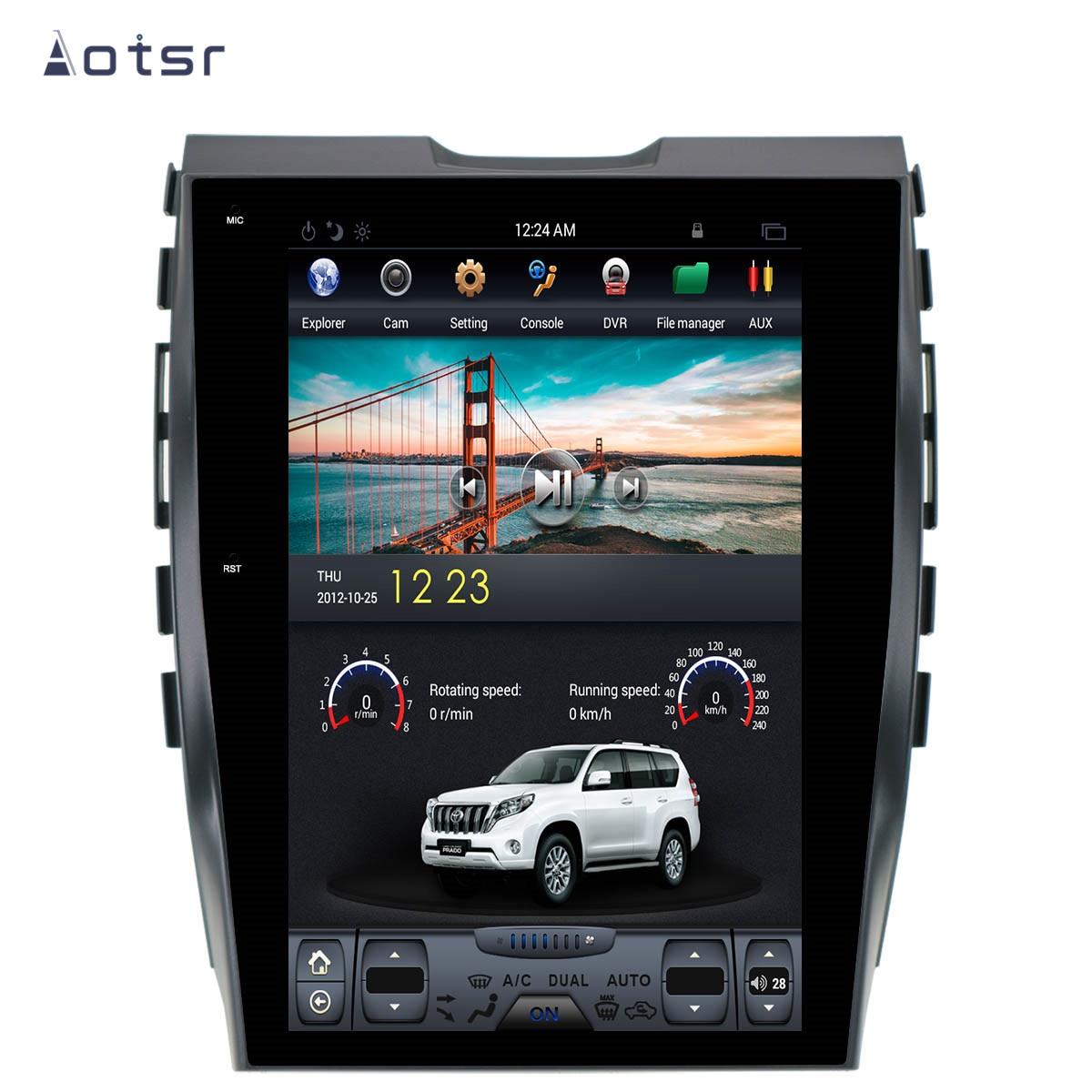 AOTSR Tesla 1 Din Car Radio Android 9 AutoRadio Coche para Ford...